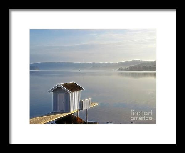 Morning Framed Print featuring the photograph Morning by Lutz Baar
