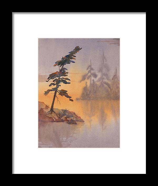 Lake Framed Print featuring the painting Morning Mist by Debbie Homewood