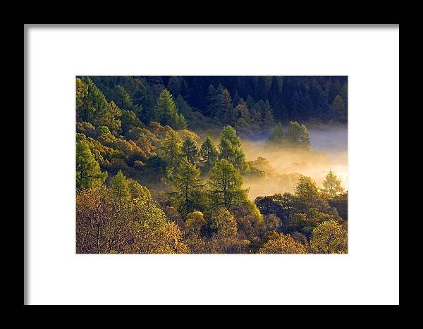Scotland Framed Print featuring the photograph Morning Mist In The Trossachs by John McKinlay