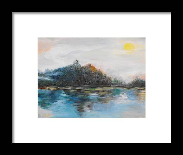 Mist Framed Print featuring the painting Morning Mist by Min Wang