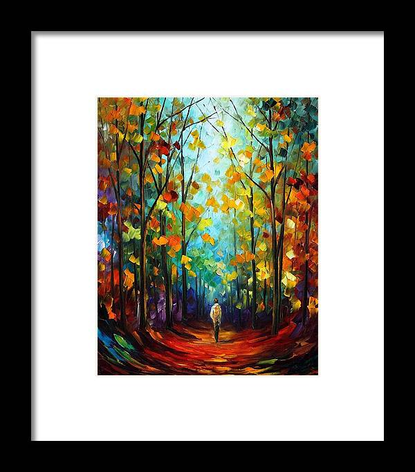 Afremov Framed Print featuring the painting Morning Mood by Leonid Afremov