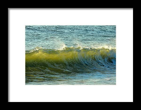 Beach Framed Print featuring the photograph Morning Ocean Break by JAMART Photography