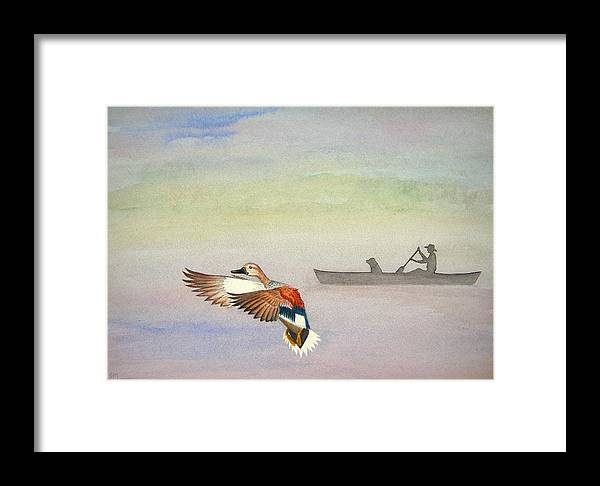 Duck Framed Print featuring the painting Morning On The Refuge by Scott Manning