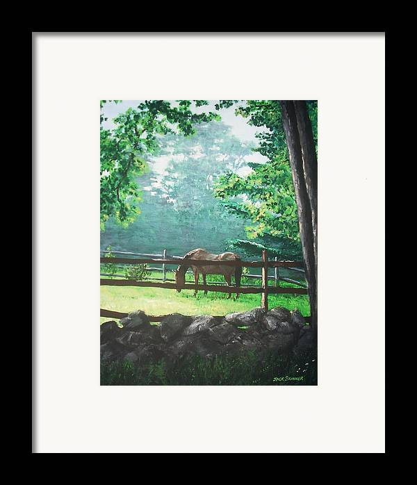 Horse Framed Print featuring the painting Morning Pasture by Jack Skinner