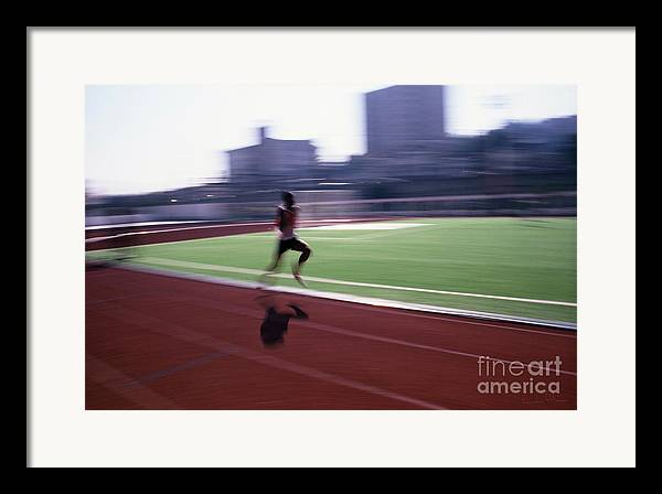 Athlete Framed Print featuring the photograph Morning Practice by Carlos Alvim