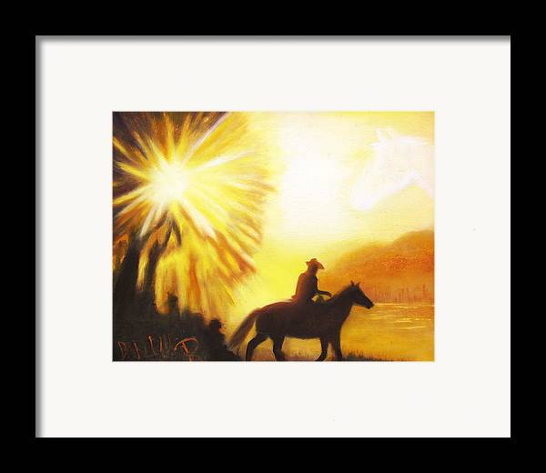 Sunrise Framed Print featuring the painting Morning Ride by Darlene Green