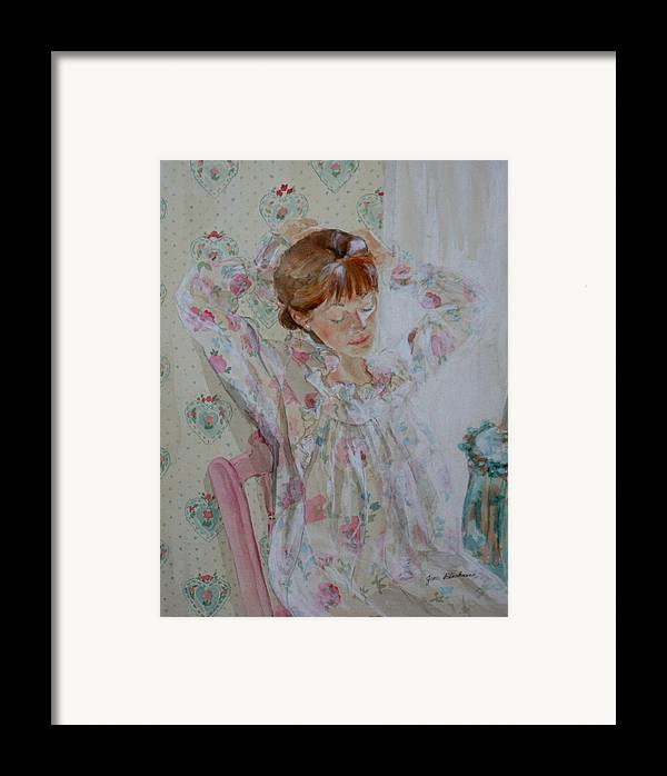 Morning Framed Print featuring the painting Morning Ritual by Jean Blackmer