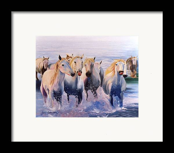 Framed Print featuring the painting Morning Run by Jay Johnson