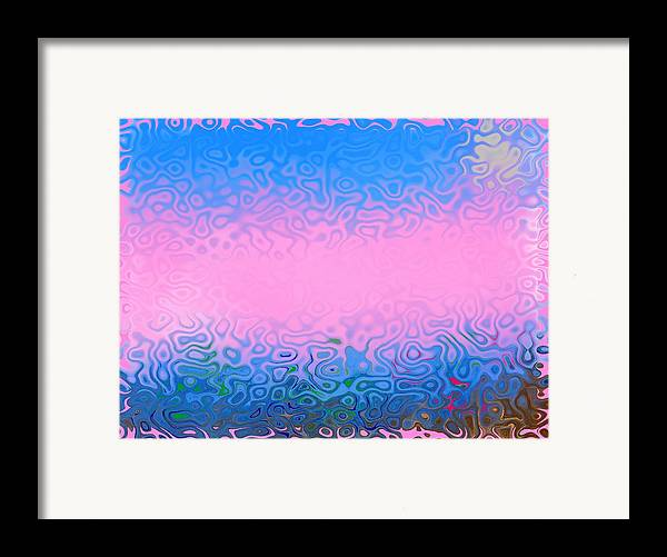 Morning.sea.fog.sun.water Illusions.morning Cold.colors Blue.rose. Framed Print featuring the digital art Morning Sea Fog.cold Water by Dr Loifer Vladimir