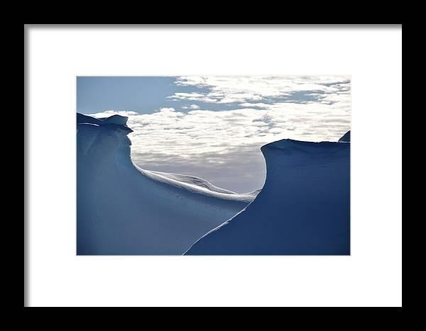 Iceberg Framed Print featuring the photograph Morning Shadows by Chris Hanlon