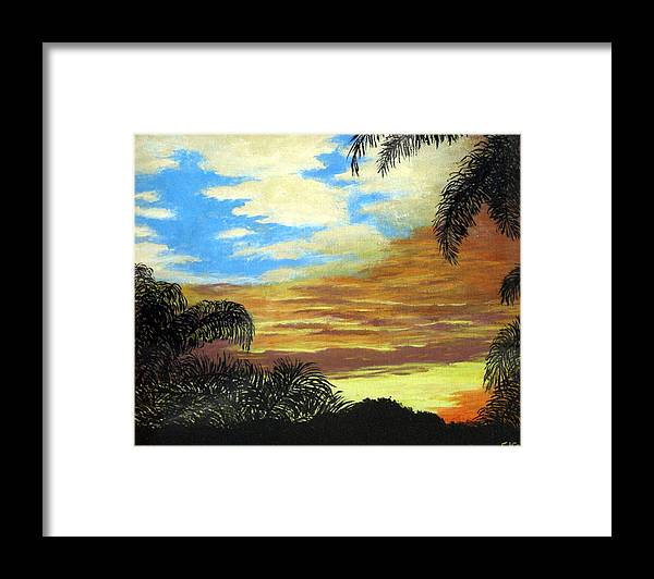 Sunrise-sunset Painting Framed Print featuring the painting Morning Sky by Frederic Kohli