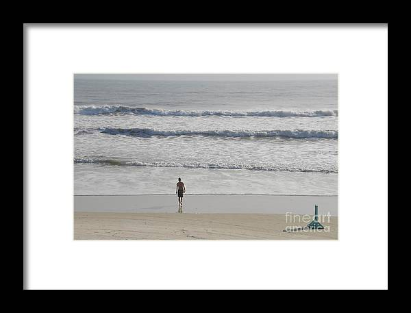 Surfing Framed Print featuring the photograph Morning Surf by David Lee Thompson