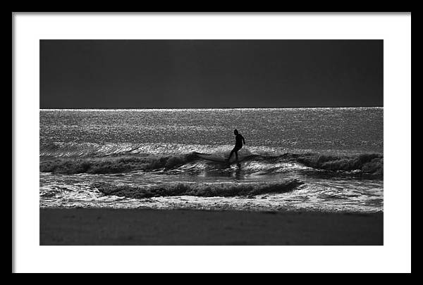 Surfer Framed Print featuring the photograph Morning surfer by Sheila Smart Fine Art Photography