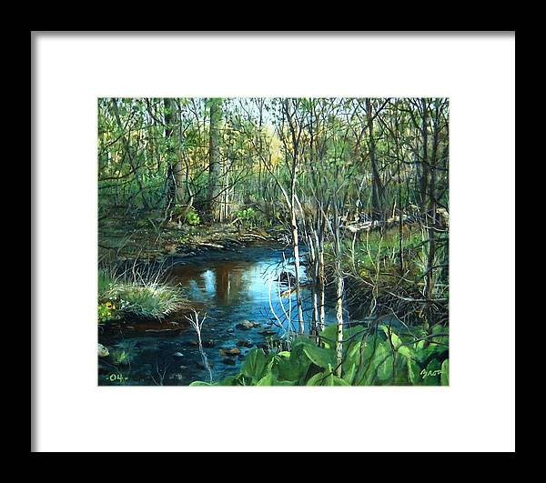 Landscape Framed Print featuring the painting Morning Surprise by William Brody