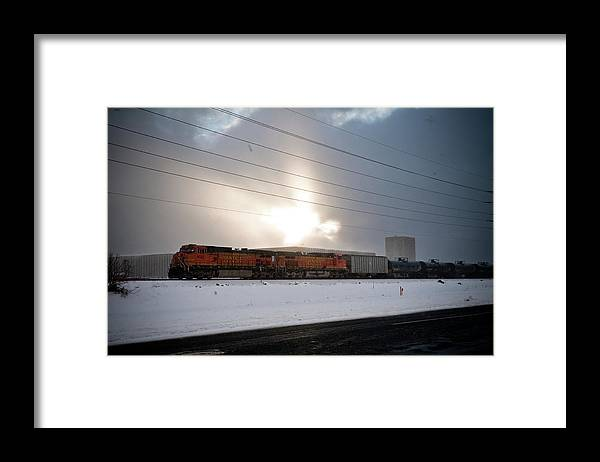 Seshat Framed Print featuring the photograph Morning Train by Scott Sawyer