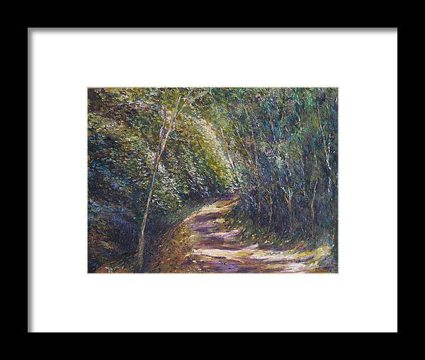 Landscape Framed Print featuring the painting Morning Walk by Wendy Chua