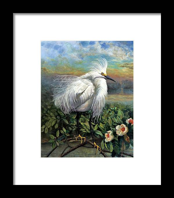Landscape Framed Print featuring the painting Morning Watch by Edward Skallberg