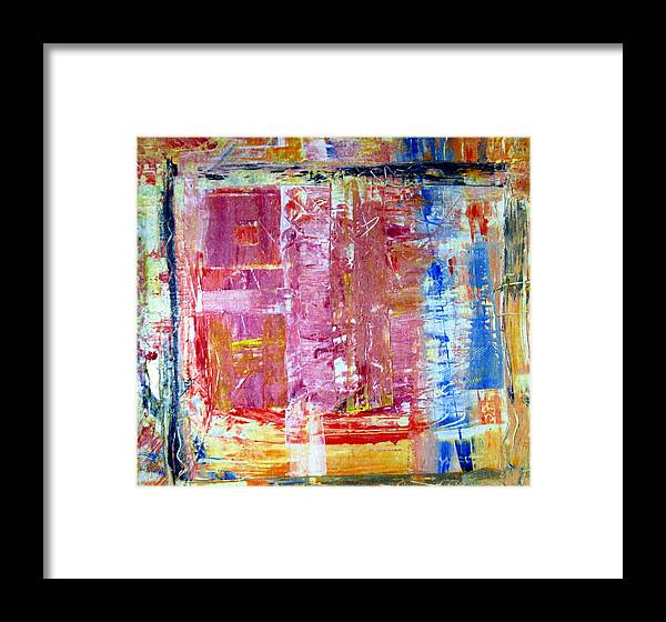 Abstract Framed Print featuring the painting Morning by Wayne Potrafka