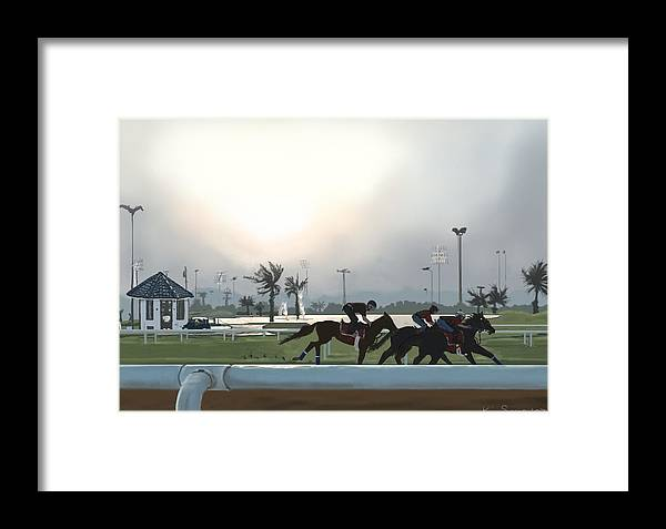 Horses Framed Print featuring the painting Morning Workout by Kim Souza