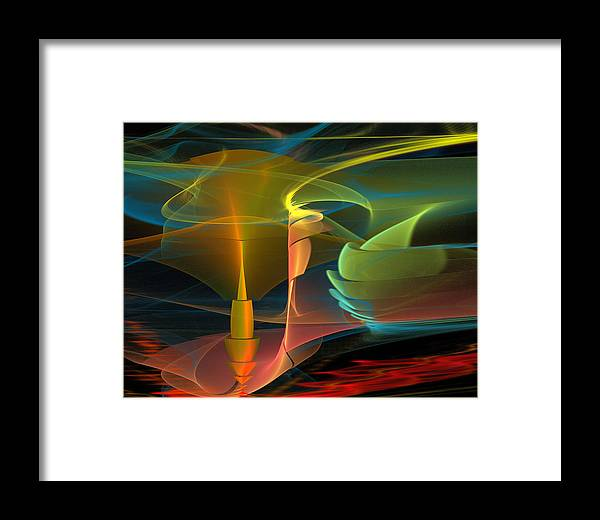 Morningfog Framed Print featuring the digital art Morningfog by Drazen Jerkovic