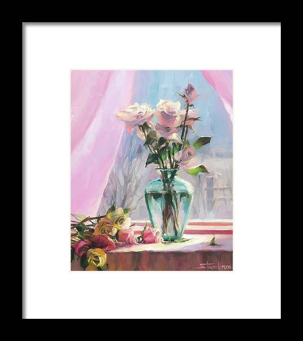 Flowers Framed Print featuring the painting Morning's Glory by Steve Henderson