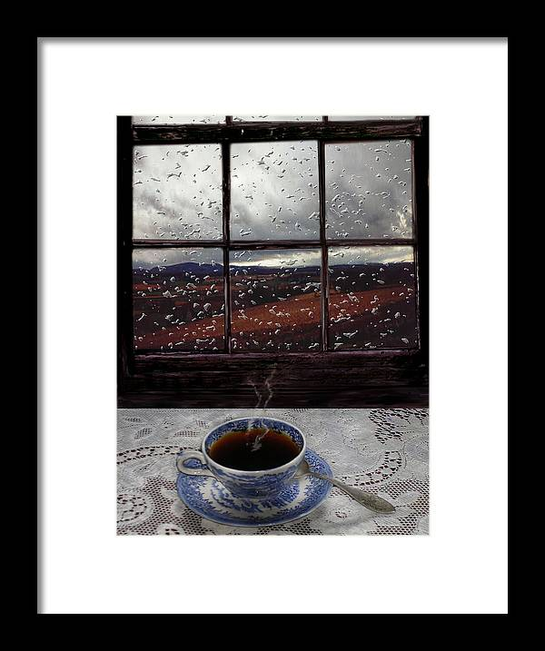 Landscape Framed Print featuring the digital art Mornings Promise by Evelynn Eighmey