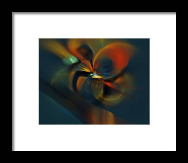 Digital Painting Framed Print featuring the digital art Mornings Slippery Slope by David Lane