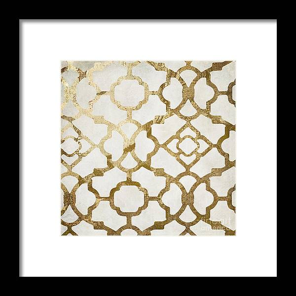 Gold Framed Print featuring the painting Moroccan Gold I by Mindy Sommers