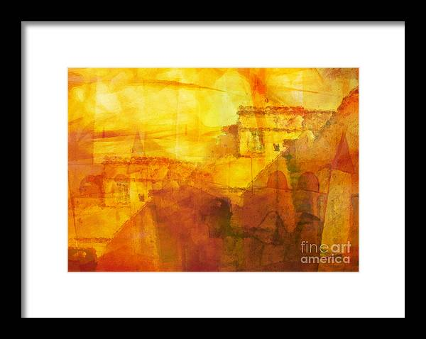 Morocco Framed Print featuring the painting Morocco Impression by Lutz Baar