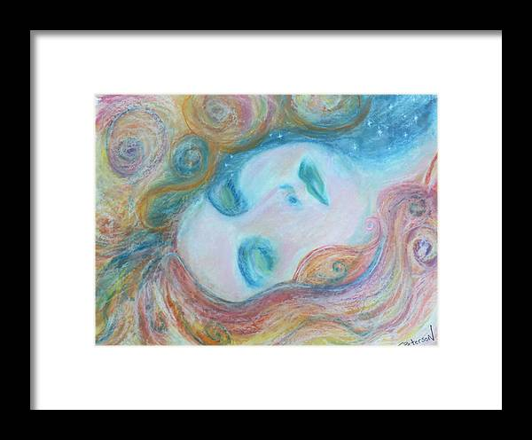 Painting Framed Print featuring the painting Morpheus Embrace by Todd Peterson