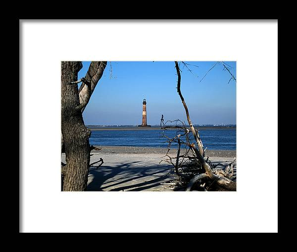 Photography Framed Print featuring the photograph Morris Island Lighthouse Charleston Sc by Susanne Van Hulst