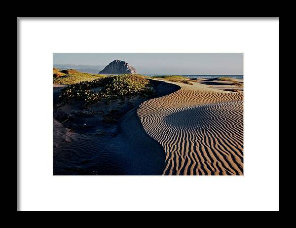 Nature Framed Print featuring the photograph Morro Strand State Beach, California by Zayne Diamond Photographic