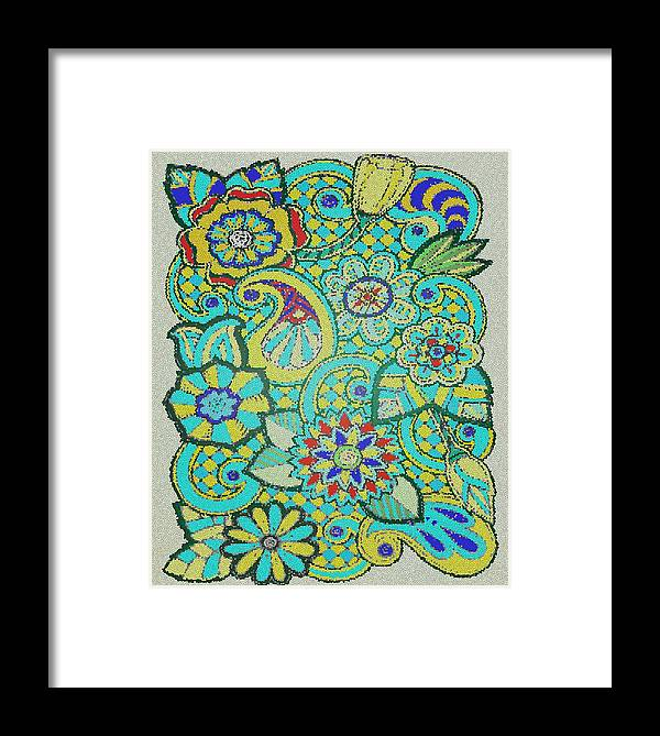 Abstract Framed Print featuring the digital art Mosaic by Davandra Cribbie
