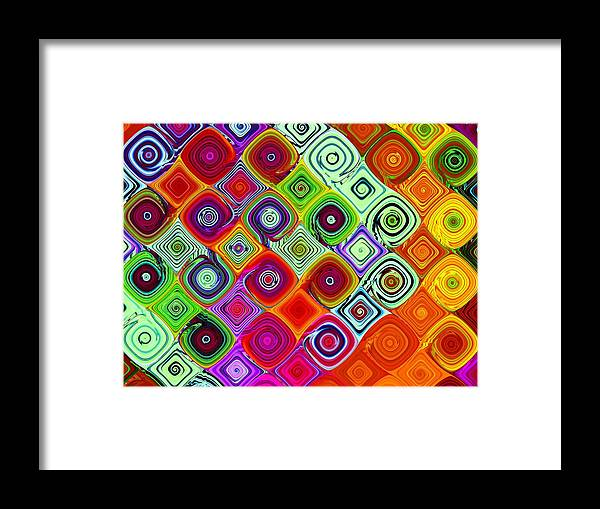 Fractal Framed Print featuring the digital art Mosaic by Vicky Brago-Mitchell