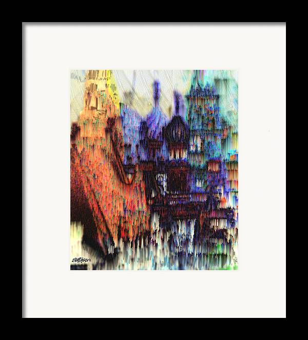Fog Framed Print featuring the digital art Moscow In The Rain by Seth Weaver