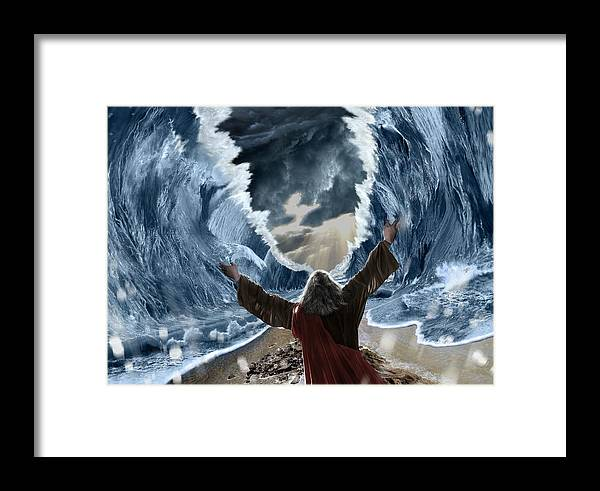 Moses Framed Print featuring the digital art Moses by Anton Herzog