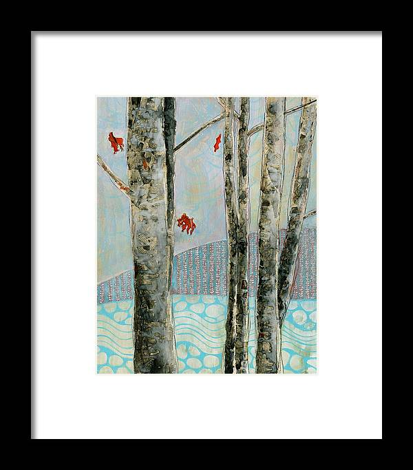 Mixed Media Framed Print featuring the painting Mosquito Creek by Sandrine Pelissier