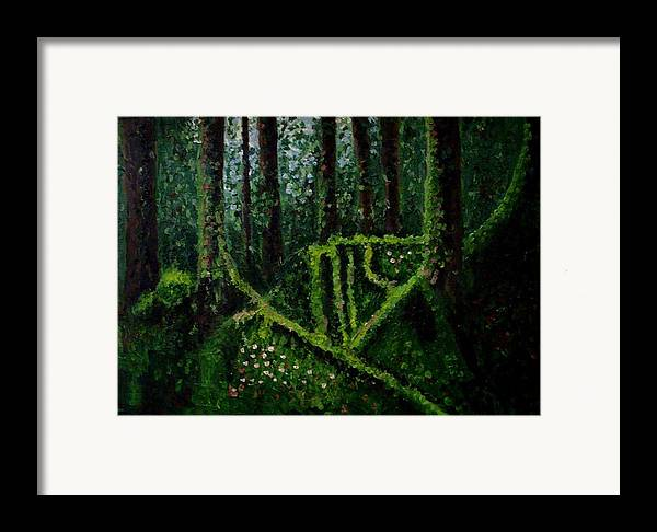 Forest Framed Print featuring the painting Moss-covered Roots by Mats Eriksson