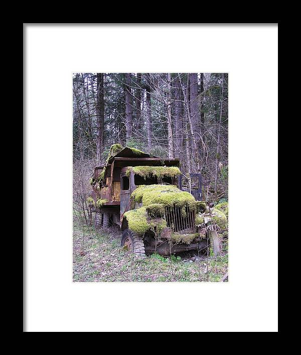 Truck Framed Print featuring the photograph Mossy Truck by Gene Ritchhart