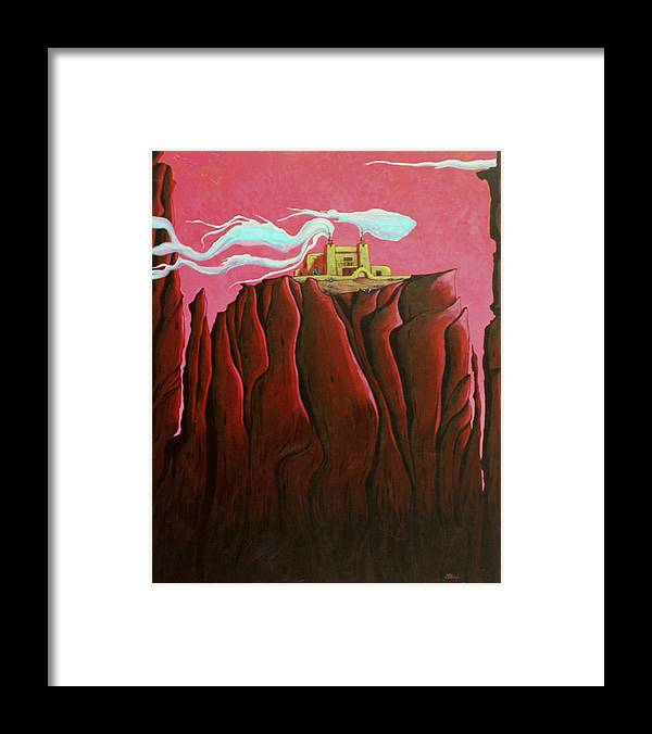 Nature Framed Print featuring the painting Most Sacred Spirit, Reveal Unto Me Thy Wisdom by Joe Triano
