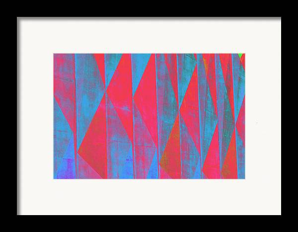 Geometric Pattern Framed Print featuring the photograph Mostly Blues And Reds by Richard Henne