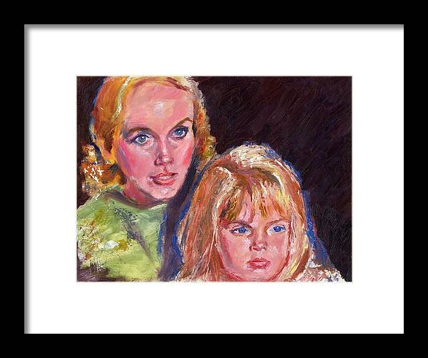 Oil Framed Print featuring the painting Mother And Child by Horacio Prada