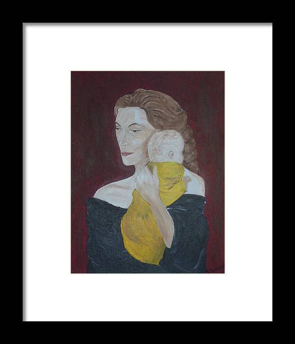 Mother Framed Print featuring the painting Mother And Child by Jennifer Hernandez