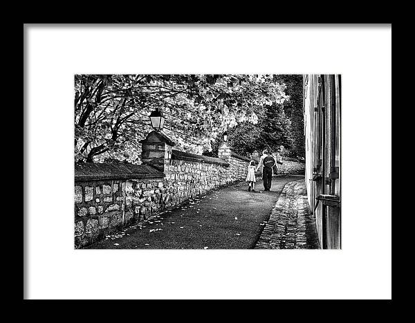 Carrierres Framed Print featuring the photograph Mother And Daughter-france by Brian DeWolf