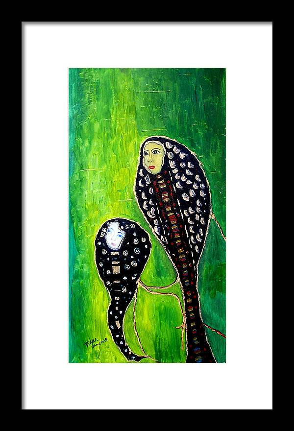 Motherly Love Framed Print featuring the painting Mother And Daughter by Pilar Martinez-Byrne