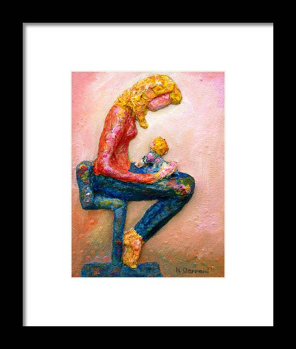 Mother And Child Framed Print featuring the painting Mother Bonding I by Naomi Gerrard