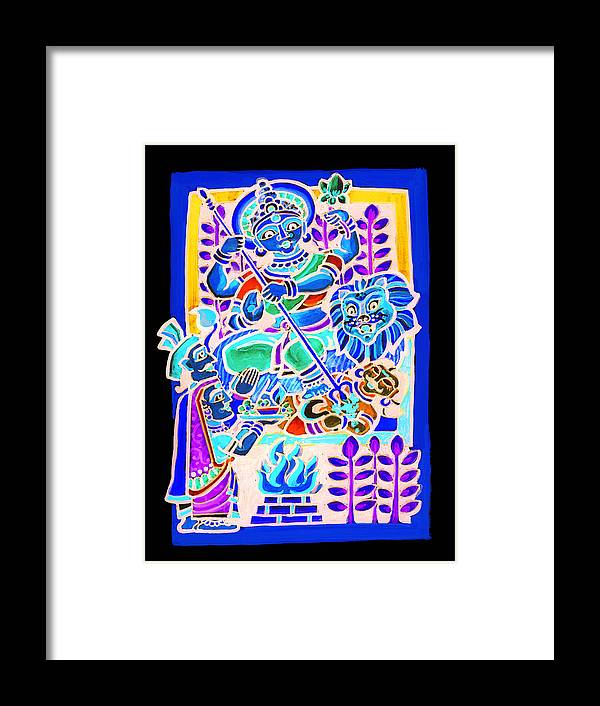 Mother God Framed Print featuring the painting Mother Deity by Rajen