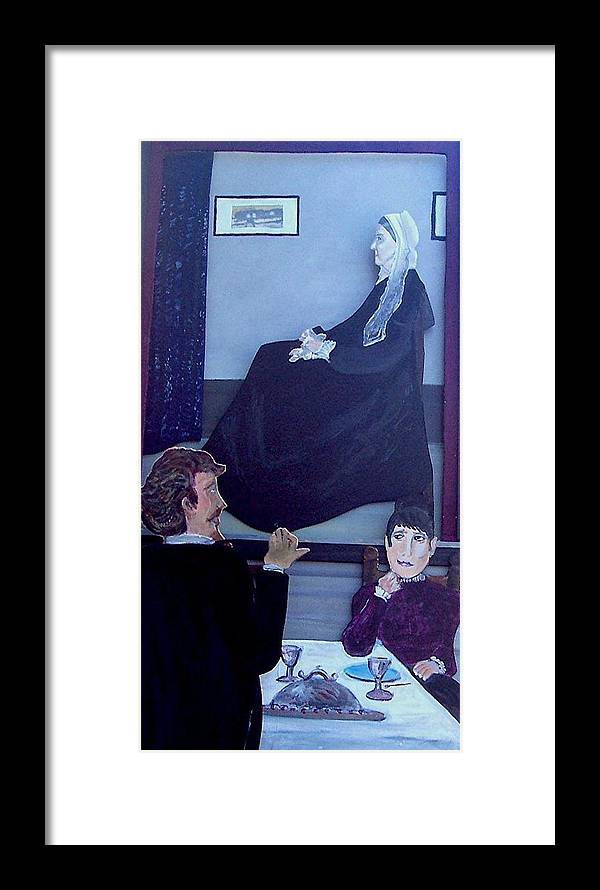 Whistler Framed Print featuring the relief Mother... Dinner Is Getting Cold by Richard Hubal