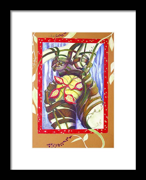 Mother Earth Framed Print featuring the painting Mother Earth by Diana Davenport