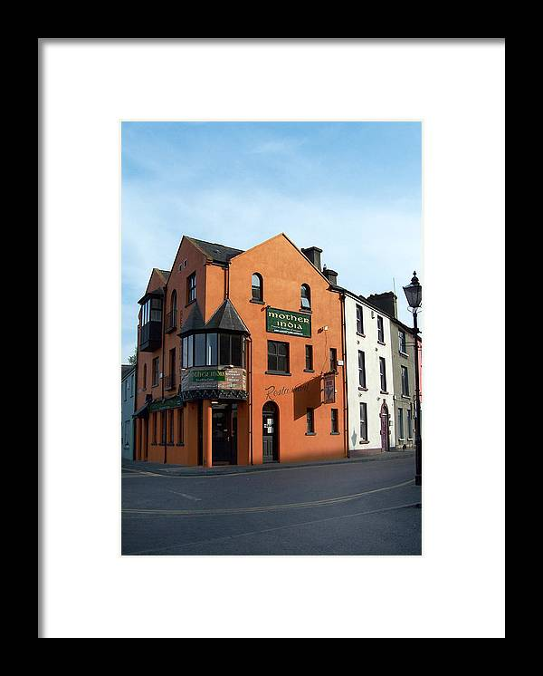 Ireland Framed Print featuring the photograph Mother India Restaurant Athlone Ireland by Teresa Mucha